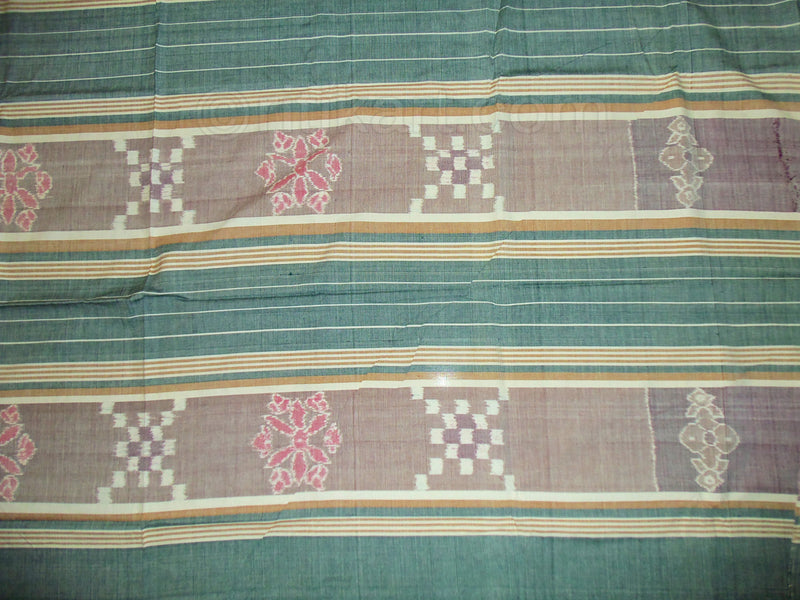 Sambalpuri Double Bed Cover Green and Grey Color-pic4