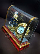 Gold-Plated Alloy Lord Ganesh and Clock Showpiece-pic2