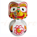 Jagannath Balabhadra Subhadra Wooden Idol Height 20 CMs Round Design-pc3