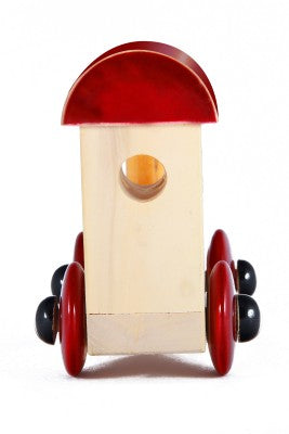 Channapatna Wooden Train Engine Toy (Red) pic-4