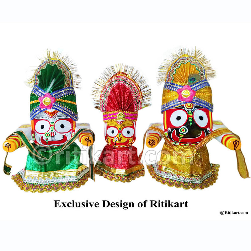Jagannath Balabhadra Subhadra Wooden Idol 20 CMs High pic-3