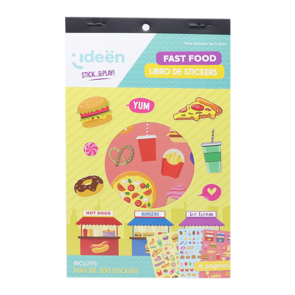 Libro De Stickers Fast Food