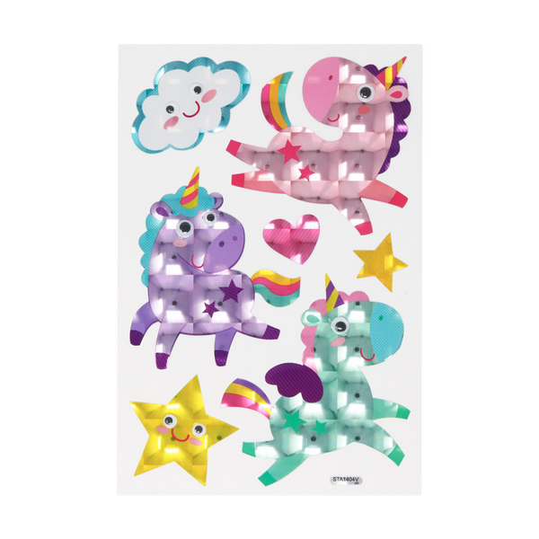 Sticker Decorativo Unicornios