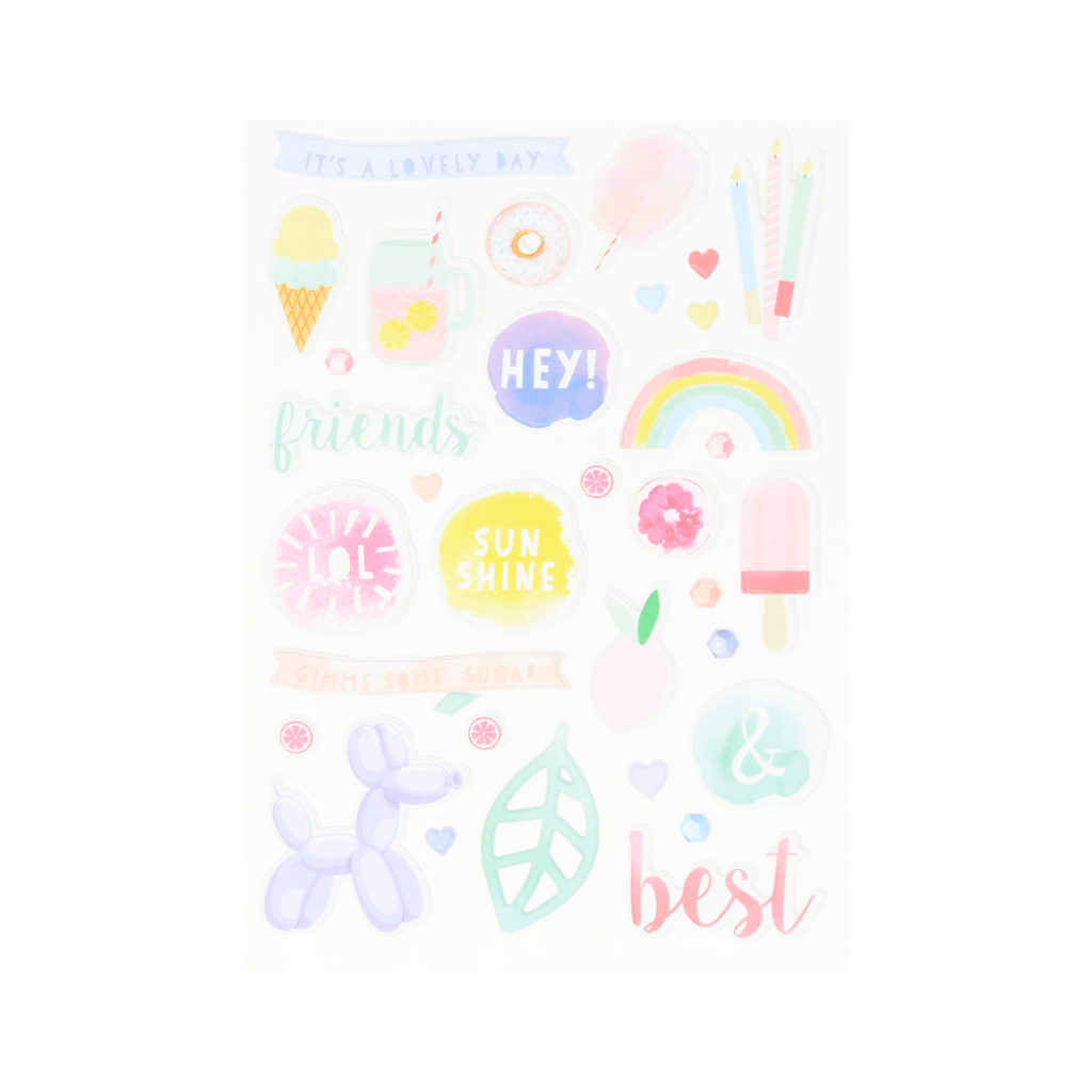 Stickers Puffy Pink Lemonade