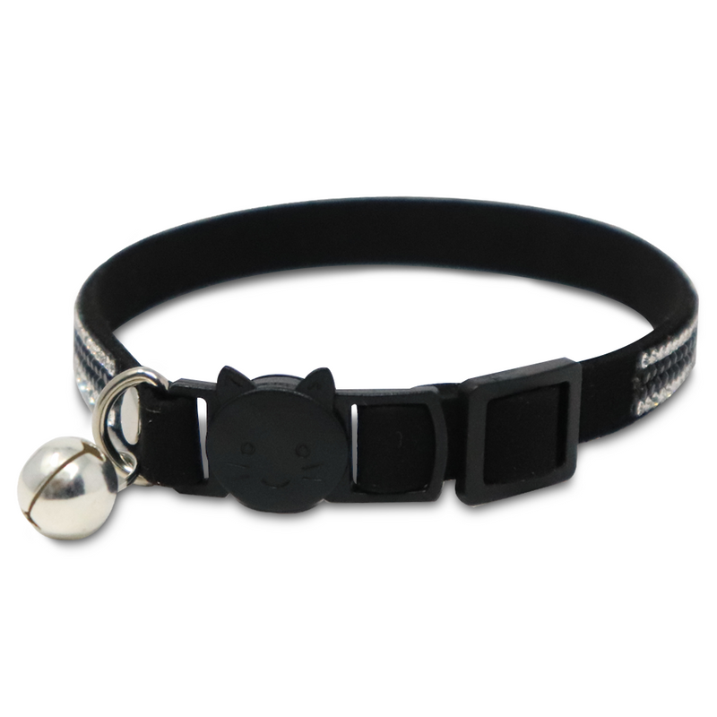 Collar Black Glitter CAT