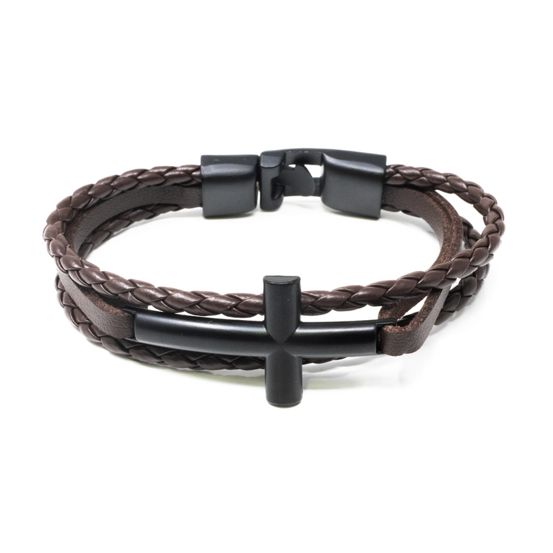 Pulsera Brown Cross