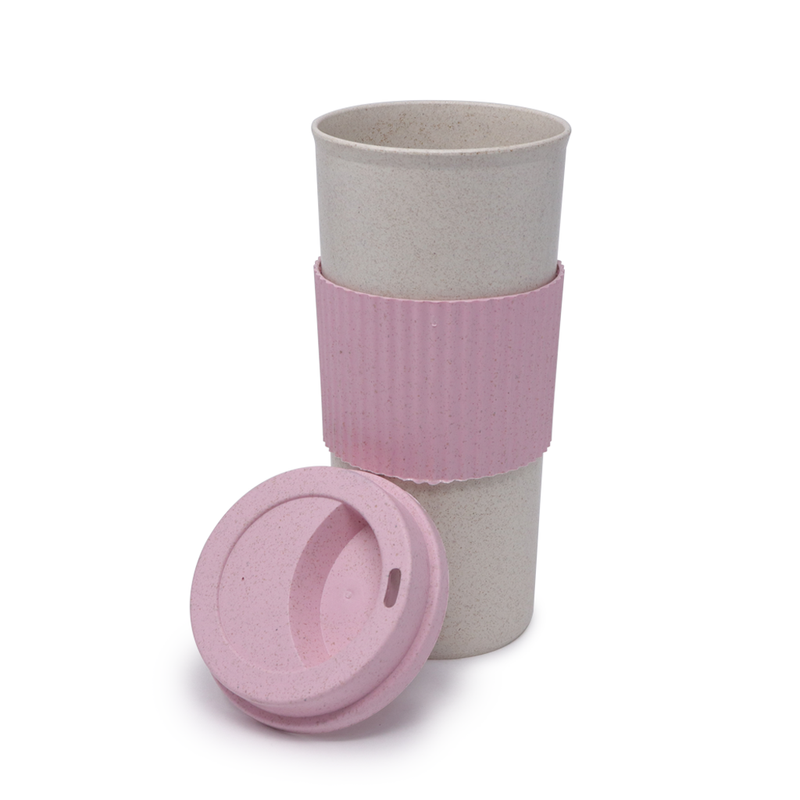 Vaso Mug Eco-Friendly Rosa