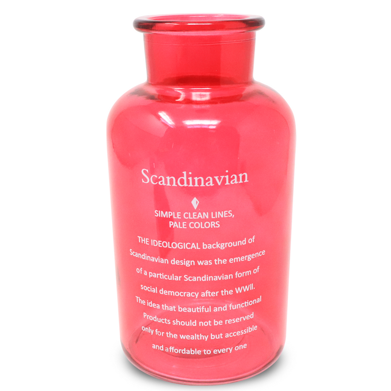 Scandinavian Glass Vase Red