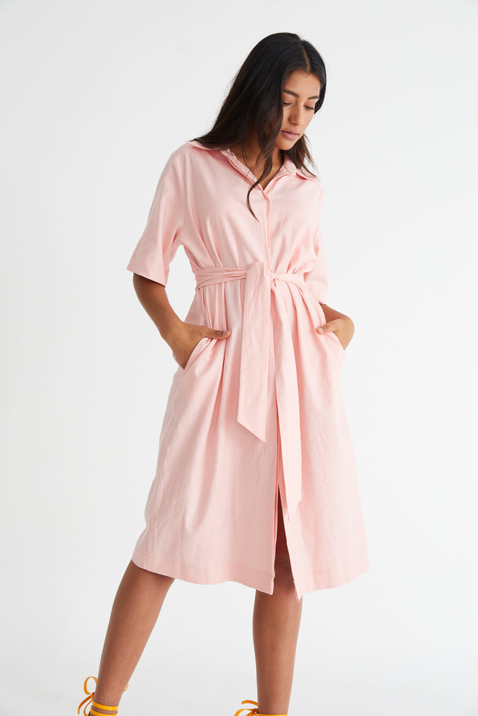 Long Island Midi Dress Peach