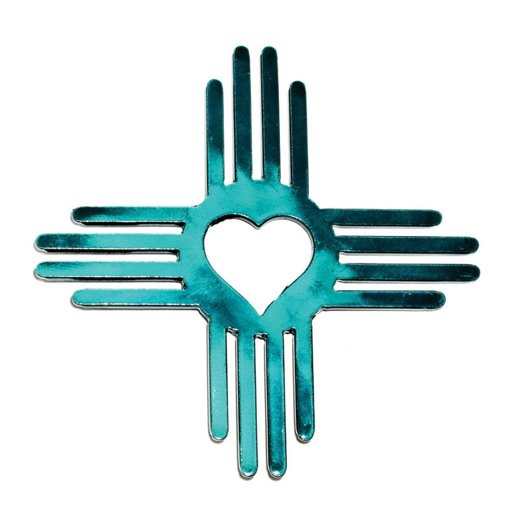 Zia heart hitch cover in Candy Teal