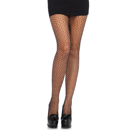 Mosaic Net Tights O-S Black