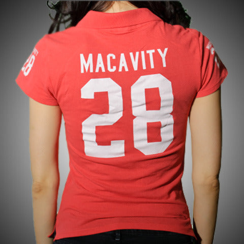 "Macavity ""Girls Red Polo"" Polo Shirt"