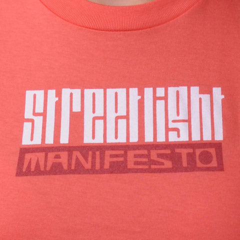 "Streetlight Manifesto ""Girls Logo"" T-Shirt (Coral)"