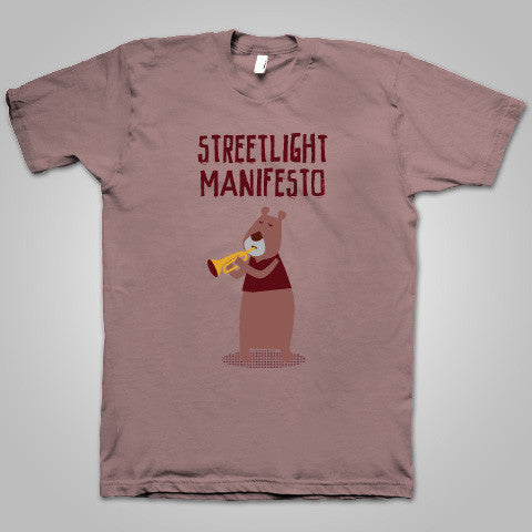 "Streetlight Manifesto ""Trumpet Bear"" T-Shirt (Light Brown)"