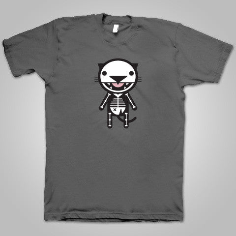 "Macavity ""Skeleton Cat"" T-Shirt (Grey) SOLD OUT"