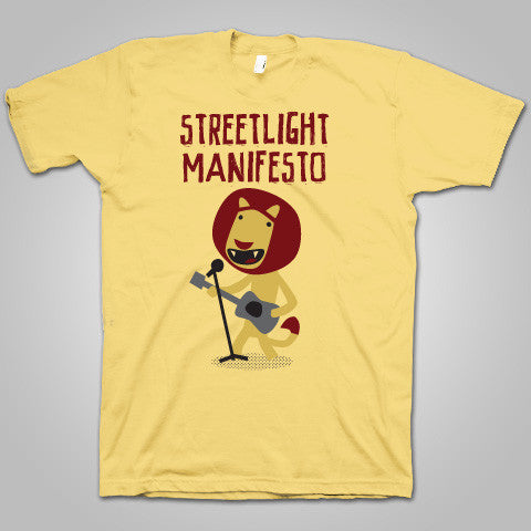 "Streetlight Manifesto ""Guitar Lion"" T-Shirt (Yellow)"