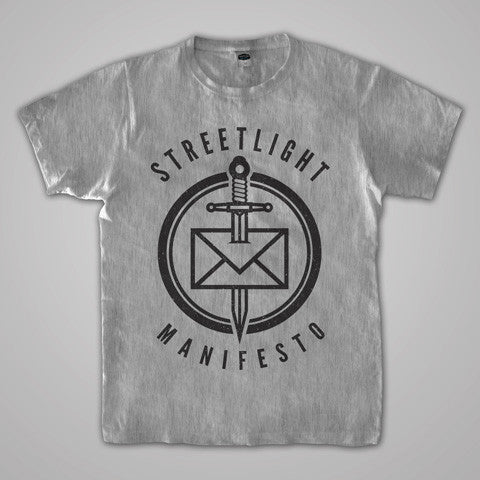 "Streetlight Manifesto ""Dead Letter"" T-Shirt (Heather Grey)"