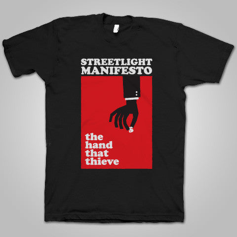 "Streetlight Manifesto ""Hands That Thieve"" T-Shirt (Black)"