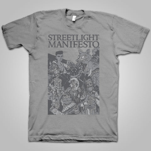 "Streetlight Manifesto ""End of the Beginning Tour-Leg One"" T-Shirt (Grey)"
