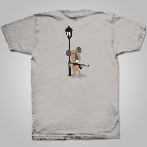 "Streetlight Manifesto ""Drum Koala"" T-Shirt (Ice Grey)"
