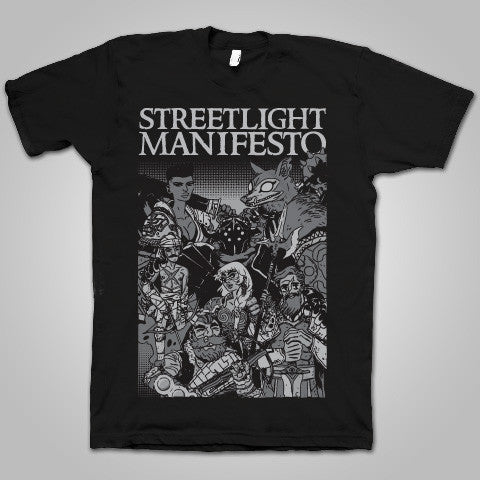 "Streetlight Manifesto ""Final Leg-End of The Beginning Tour"" T-Shirt (BLACK)"