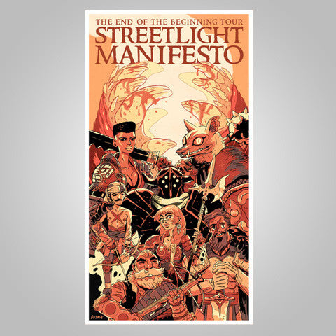 "Streetlight Manifesto ""End Of The Beginning Tour"" Poster"