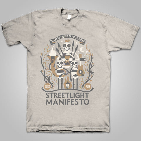 "Streetlight Manifesto ""EOTEOTB Tour"" T-Shirt (Sand) SOLD OUT"
