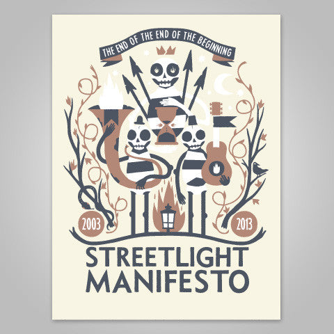 "Streetlight Manifesto ""End Of The Beginning Screenprint"" Poster"
