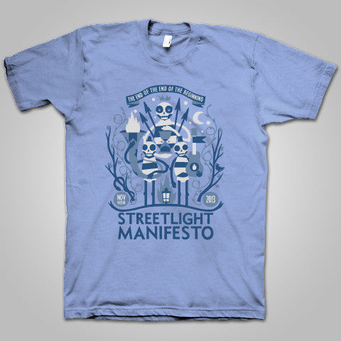 "Streetlight Manifesto ""EOTEOTB Tour"" T-Shirt (Blue)"