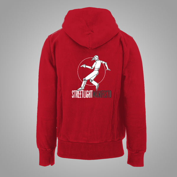 "Streetlight Manifesto ""Jumping Woman"" Red Zip Hoodie (XL)"