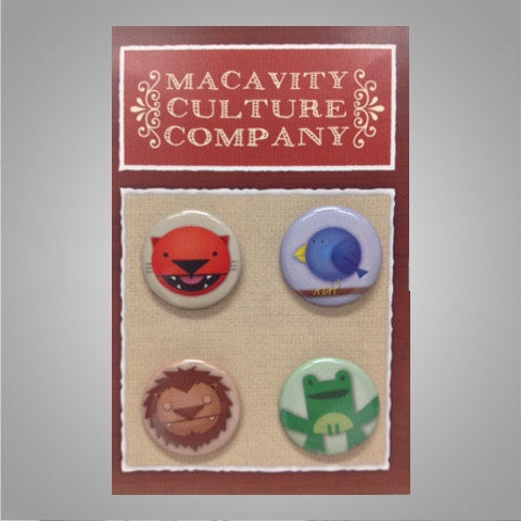 "Macavity ""Button Pack"" 4-Piece SOLD OUT"