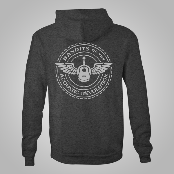 "B.O.T.A.R. ""Round Logo"" Zip-Up Hoodie (Heather Grey) SOLD OUT"