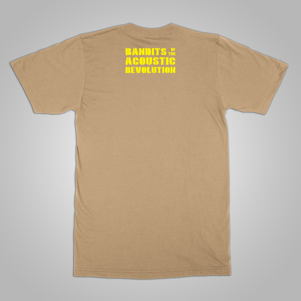 "B.O.T.A.R. ""Guitar Logo"" T-Shirt (Tan)"