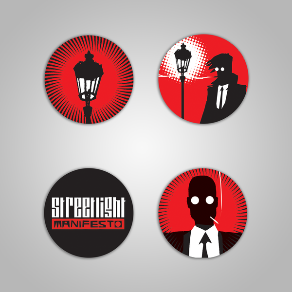 "Streetlight Manifesto ""Classic"" Button Pin Pack (Set of 4)"