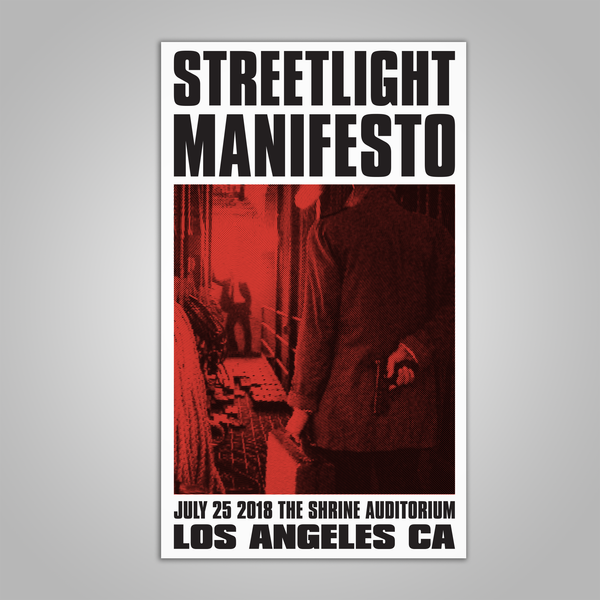 "Streetlight Manifesto ""Keasbey Nights Anniversary Show LOS ANGELES Screen Print Poster (2018)"