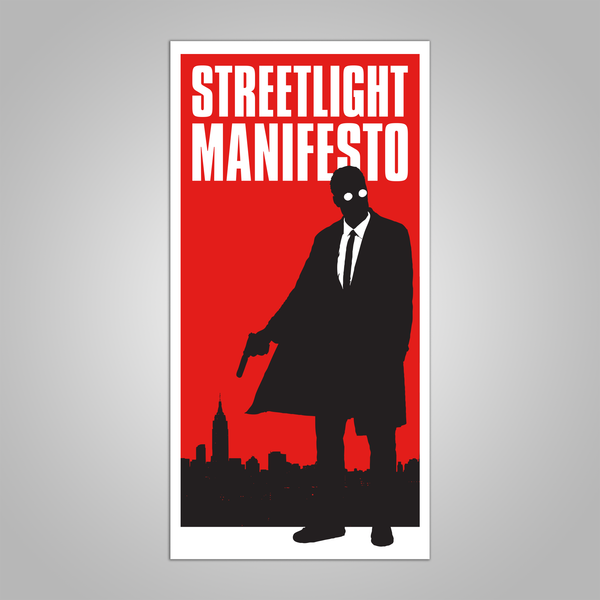 "Streetlight Manifesto ""Mystery Man Skyline"" Screen Print Poster (2018)"