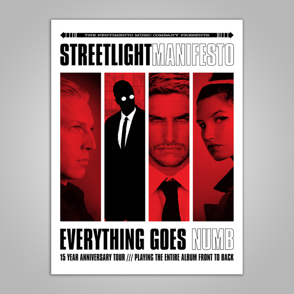 "Streetlight Manifesto ""Everything Goes Numb Anniversary Tour"" Poster (2018)"