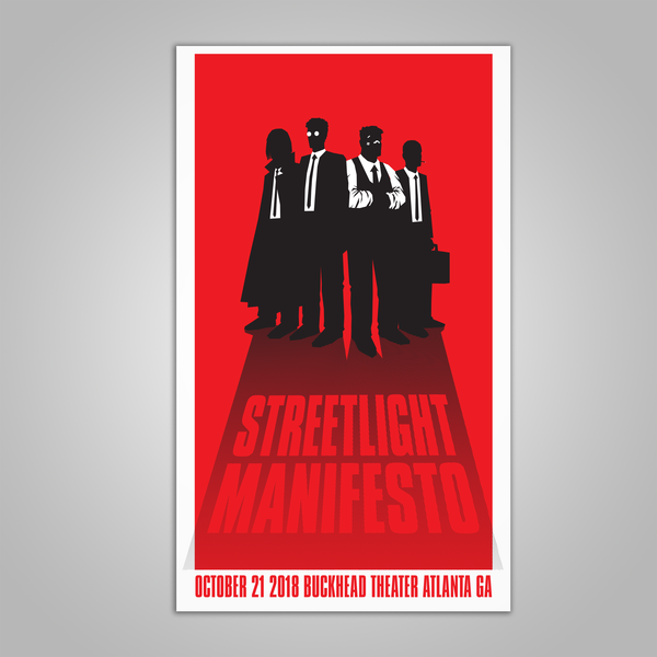 "Streetlight Manifesto ""Everything Goes Numb Tour ATLANTA"" Screen Print Poster (2018)"