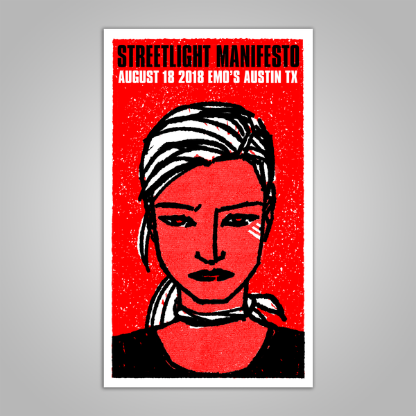 "Streetlight Manifesto ""Everything Goes Numb Tour AUSTIN"" Screen Print Poster (2018)"