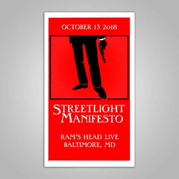 "Streetlight Manifesto ""Everything Goes Numb Tour BALTIMORE"" Screen Print Poster (2018)"