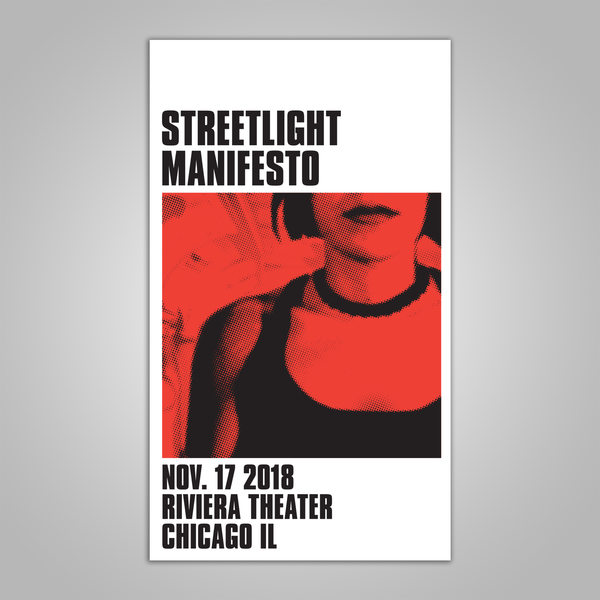 "Streetlight Manifesto ""Everything Goes Numb Tour CHICAGO"" Screen Print Poster (2018)"