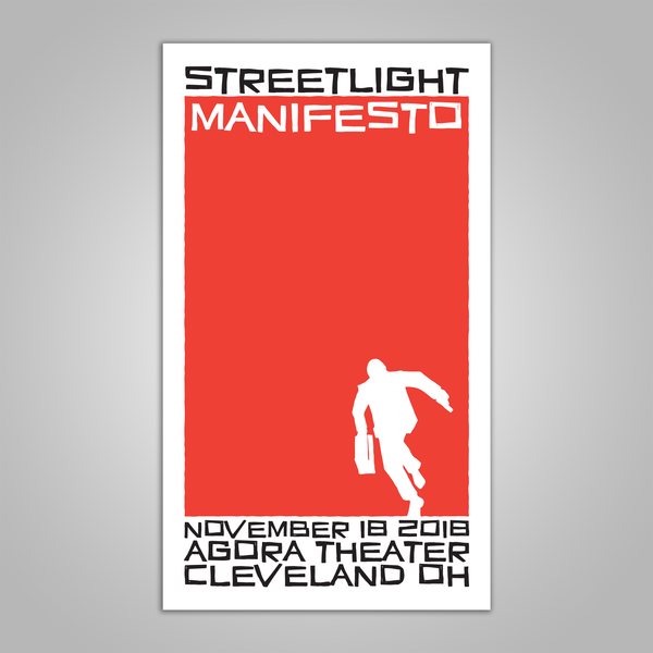 "Streetlight Manifesto ""Everything Goes Numb Tour CLEVELAND"" Screen Print Poster (2018)"