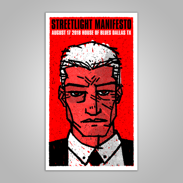 "Streetlight Manifesto ""Everything Goes Numb Tour DALLAS"" Screen Print Poster (2018)"
