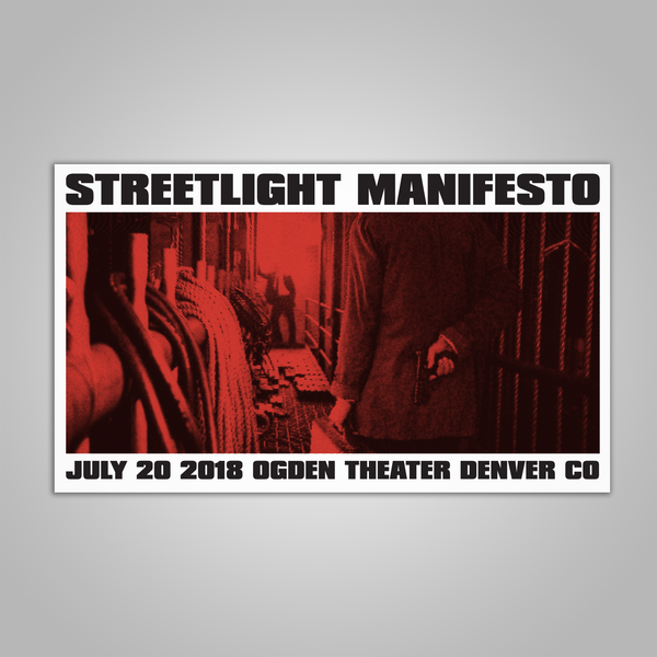 "Streetlight Manifesto ""Keasbey Nights Anniversary Show DENVER Screen Print Poster (2018)"