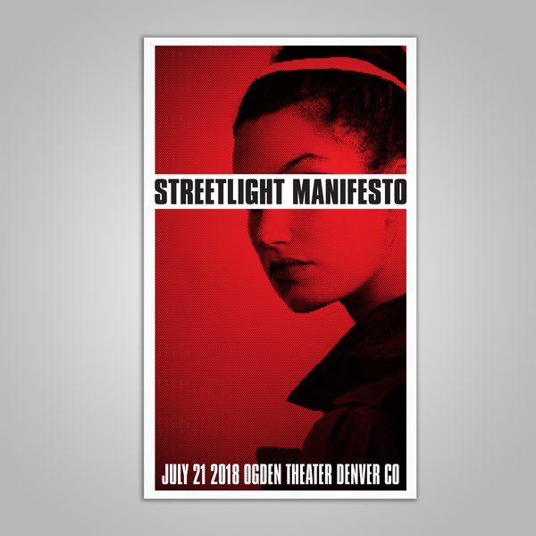 "Streetlight Manifesto ""Everything Goes Numb Tour DENVER"" Screen Print Poster (2018)"