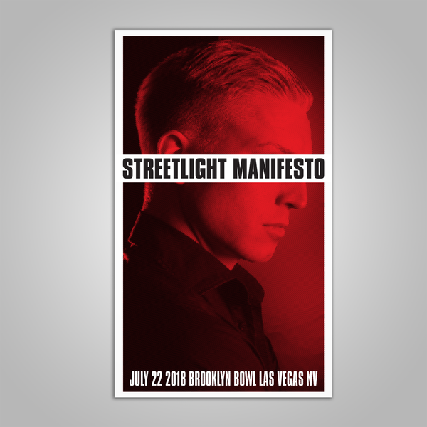 "Streetlight Manifesto ""Everything Goes Numb Tour LAS VEGAS"" Screen Print Poster (2018)"