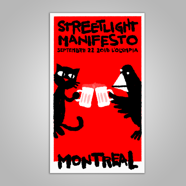 "Streetlight Manifesto ""Everything Goes Numb Tour MONTREAL"" Screen Print Poster (2018)"