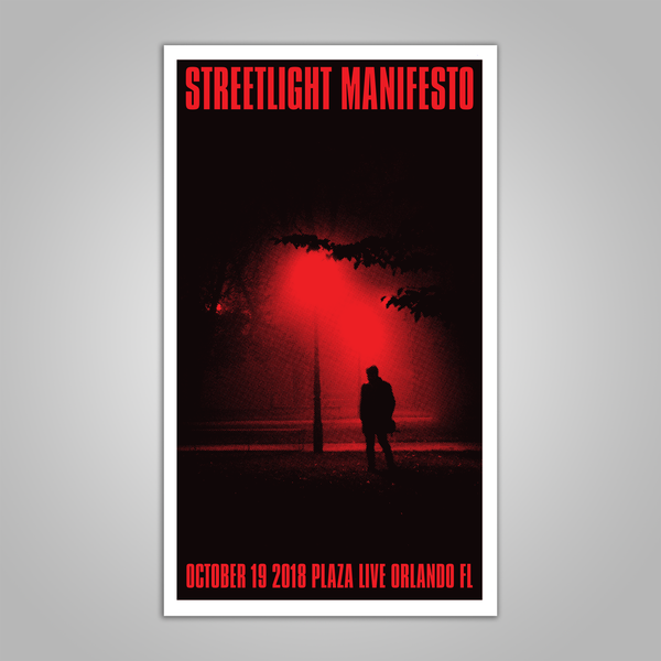 "Streetlight Manifesto ""Everything Goes Numb Tour ORLANDO"" Screen Print Poster (2018)"