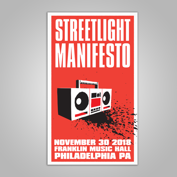 "Streetlight Manifesto ""Everything Goes Numb Tour PHILADELPHIA"" Screen Print Poster (2018)"
