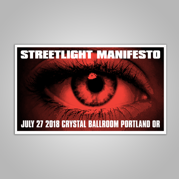"Streetlight Manifesto ""Everything Goes Numb Tour PORTLAND"" Screen Print Poster (2018)"